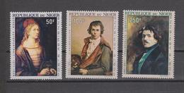 Yvert PA 68 / 70 ** Neuf Sans Charnière Tableau Peinture Durer David Delacroix - Niger (1960-...)