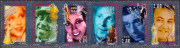 France 1994 Mi № 3044-49 Used Booklet Pane Stage & Screen Personalities - France