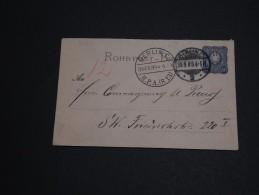 ALLEMAGNE - Entier Postal De Berlin Pour Berlin En 1889 , Pneumatique  - A Voir - L 375 - Entiers Postaux