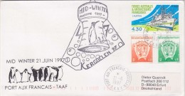 TAAF 1997 Kerguelen  Mid-Winter Cover Ca 21-6-1997 (F5282) - Covers & Documents