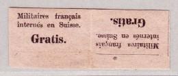 Schweiz Portofreiheit 1871 #1* Für Die Internierten Der Französische Bourbaki-Armee Paar Im Kehrdruck - Franchise