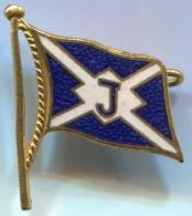 Ship Boat, Navy Marine - Yachting Nautical, Enamel, Vintage Pin, Badge - Bateaux