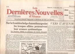 Alsace Les Dernières Nouvelles D´Alsace N°9 Du 31 Décembre 1944 - Zeitungen