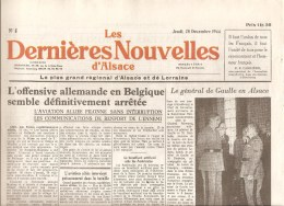 Alsace Les Dernières Nouvelles D´Alsace N°8 Du 28 Décembre 1944 - Kranten