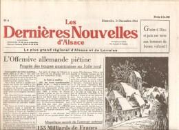 Alsace Les Dernières Nouvelles D´Alsace N°4 Du 24 Décembre 1944 - Kranten