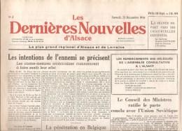 Alsace Les Dernières Nouvelles D´Alsace N°3 Du 23 Décembre 1944 - Kranten