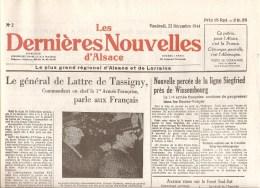 Alsace Les Dernières Nouvelles D´Alsace N°2 Du 22 Décembre 1944 - Autres