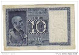 10 LIRE IMPERO 1938 XVII  BB/SPL  LOTTO 1355 - [ 1] …-1946 : Kingdom