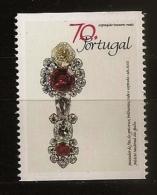 Portugal 1992 N° 1851 ** Trésors Royaux, Écharpe De Grand-Croix, Bijou, Bijouterie, Ruby, Diamant, Ajuda, Joaillerie - 1910-... République