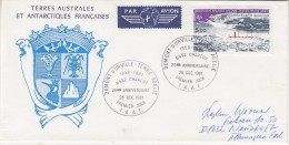 TAAF 1981 Base Charcot 1v FDC  Ca  Dumont D'Urville (F5287) - FDC
