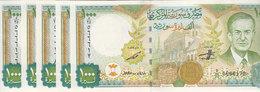 SYRIA 1000 LIRA 1997 2012 P-111 Prefix ( D ) LOT X 5 UNC NOTES */* - Syrie