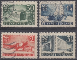 Finlandia 1938 Nº 205/08 Usado - Gebraucht