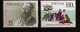 Portugal 1991 N° 1852 / 3 ** Histoire, Antero De Quental, Poète, Politique, Congo, Évangélisation, Caravelle, Soldat - Unused Stamps