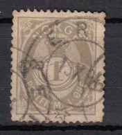 Norvege   Cor Ombre    Legende  Postfrim     YT N° 22    1 O Gris Olive - Norvège