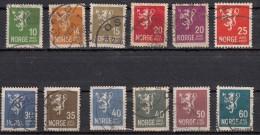 Norvege  Armoirerie  Serie 1926  12 Valeurs - Norvège