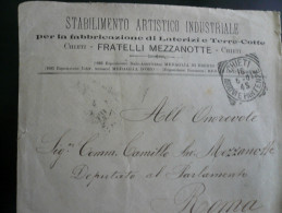 Chieti Pubblicità  15 Cent Mista Floreale-Leoni Usata 16.5.07 Al Verso - Storia Postale (Posta Aerea)