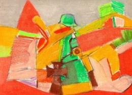 Dessin Post-cubiste .craie  Sur Papier.(Tesson) Feuille : 320 X 240 Mm. - Dessins
