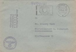 Feldpost WW2: Feste Funkstelle Hagelsberg Danzig P/m Danzig 9.1.1943 - Typewritten Letter Inside  (G85-32) - Militaria