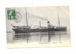 """""""LE CHOLON"""" Chargeurs Réunis , Postée En 1908 - Bateaux"""