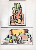 Art Brut. Aquarelle -feutre Noir,sur Papier.(Tesson) Feuille : 320 X 240 Mm.copie (à La Manière De Dubuffet) - Dessins