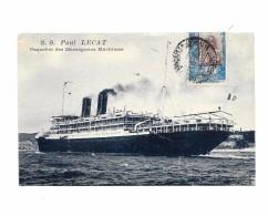 """S.S  """"PAUL LECAT"""" Paquebot Des Messageries Maritimes, - Bateaux"""