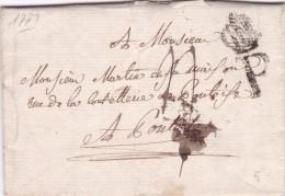 Lettre De Paris 1773 - Marcophilie (Lettres)
