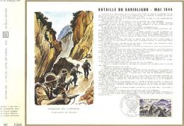 Sur Feuillet CEF , FDC  1969 Paris . Bataille Du Garigliano  Mai 1944...Le Général Allemand Kesselring , En Italie Du Su - FDC