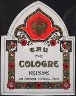 ETIQUETTE ANCIENNE De PARFUM - EAU De COLOGNE RUSSE - Les Parfums PIVARD - Paris - Très Bon Etat - - Etiquettes