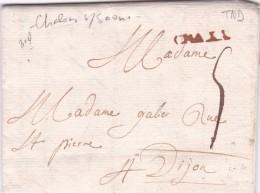 Châlons Sur Saone 1758 - Marcophilie (Lettres)