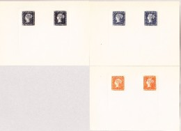 1912 Mauritius Set Mit 3 Nachdrücke Paris Blau, Schwarz Und Orange - Maurice (...-1967)