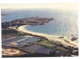 CPSM La Trinité Sur Mer  La Plage De Kervilaine Au Large Ile De Houat & Phare Teignouse - La Trinite Sur Mer