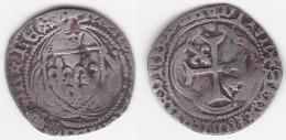 CHARLES VII 1422/1461 Petit BLANC A La Couronne Point 4 Montpellier (voir Scan) - 1422-1461 Karel VII Van Frankrijk