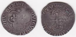 LOUIS XI 1461/1483 BLANC Au Soleil Point 19 St LO (voir Scan) - 1461-1483 Louis XI Le Prudent