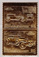 Grenadines & St. Vincent Motiv Auto Stutz Phaeton DV 32 Senkr. Paar $10 Echt 22Kr Gold - Antilles