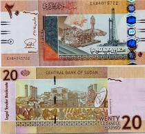 SUDAN       20 Sudanese Pounds       P-74[c]       3.2015       UNC - Sudan