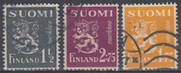 Finlandia 1940 Nº 222/24 Usado - Gebraucht