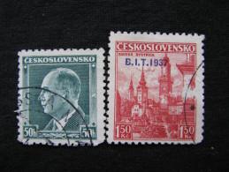 Tschechoslowakei    381 - 382   O - Gebraucht