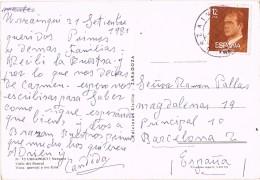 18519. Postal URZAINQUI (Navarra) 1981. Valle Del Roncal Y Rio Esla Por Urzainqui - 1931-Hoy: 2ª República - ... Juan Carlos I