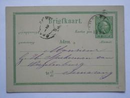 NETHERLANDS INDIES 1886 STATIONARY CARD TO SEMARANG - Indie Olandesi
