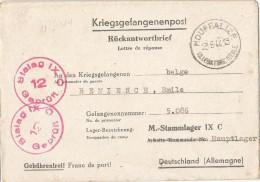 _5pk-139: Kriegsgefangenpost: Rückantwordtbrief Verstuurd Uit: HOUFFALIZE 23-6-44... Om Verder Uit Te Zoeken... - WW II