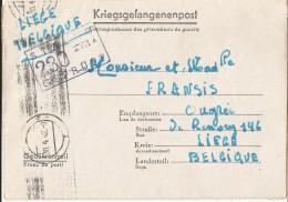 _5pk-136: Kriegsgefangenpost: > LIEGE  30-4-42... Om Verder Uit Te Zoeken... - WW II