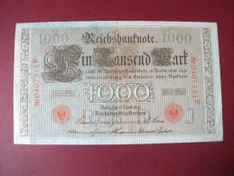 Allemagne:Reichsbanknote 1000    Mark - [ 2] 1871-1918 : German Empire