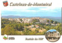 CPM 81 CASTELNAU DE MONTMIRAL BASTIDE VUE GENERALE MAISONS PANS DE BOIS - Castelnau De Montmirail