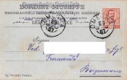 """05799 """"OMEGNA (VB) - GIUSEPPE BORDINI & OBERTINI CARLO - IMPRESA TRASPORTI """" CART. COMM. INTEST., SPEDITA 1907 - Commercio"""