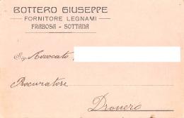 "05803 ""FRABOSA SOTTANA (CN) - BOTTERO GIUSEPPE FORNITORE LEGNAMI"" CART. COMM. INTEST., SPEDITA 1919 - Commercio"