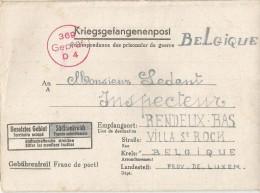 _5pk-131: Kriegsgefangenpost:  Besetztes Gebiet : > RENDEU ... Om Verder Uit Te Zoeken... - WW II