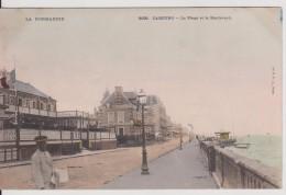 """14 CALVADOS CABOURG  """"   La Plage Et Le Boulevard  """" Précurseur C.P.A - Cabourg"""