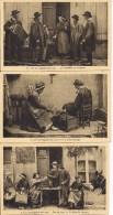Lot De 3 CPA - Les Auvergnats Chez Eux - Soir De Foire,un Jeune Ménage, Les Chanteurs De Réveillers - Auvergne