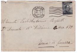 STORIA POSTALE - ITALIA - ANNO 1917 - PER L´ASPIRANTE UFFICIALE ANTONIO REPETTI - GENOVA - PER ZONA DI GUERRA - - 1900-44 Victor Emmanuel III.