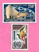 1584   ~~  1961 / 63 -  REPUBLIQUE   DAHOMEY  Poste  Aérienne  N° PA 20 + 22**  Neufs - Bénin – Dahomey (1960-...)